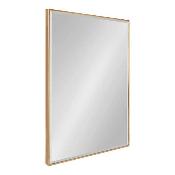 Rhodes Rectangle Gold Wall Mirror - Home Depot