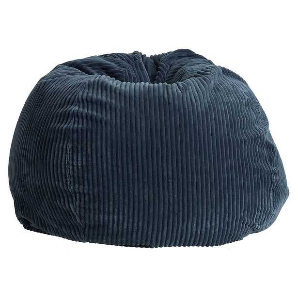 Chamois Bean Bag Chair Slipcover and Insert, Midnight/Blue, Large - Pottery Barn Teen