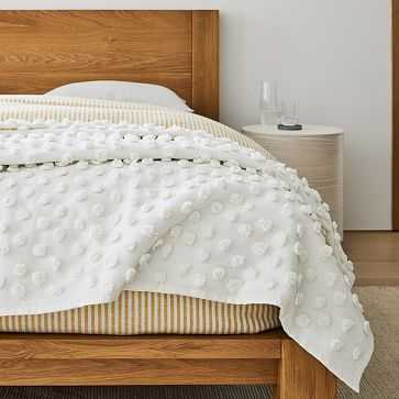 Candlewick Bed Blanket, King/Cal. King, White - West Elm