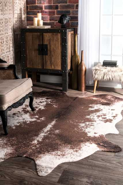 Halina Faux Cowhide Area Rug - Loom 23