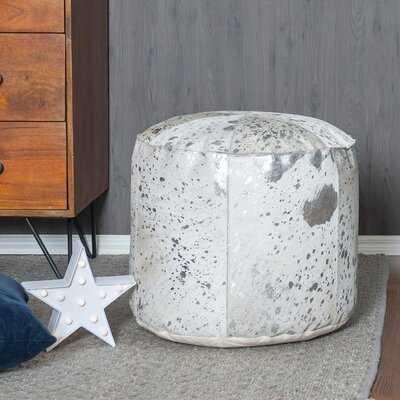 Vernita Foil Leather Pouf - Wayfair