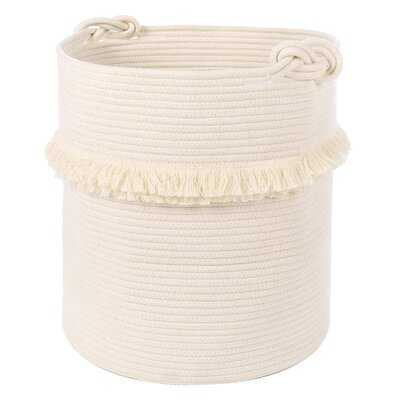 Extra Large Woven Storage Baskets – 17'' X 16'' Cotton Rope Decorative Hamper For Magazine, Toys, Blankets, And Laundry, Cute Tassel Nursery Decor - Home Storage Container - Wayfair
