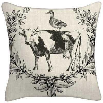 Krystian Farmhouse Throw Pillow - Wayfair