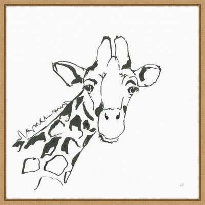 African Animals I Giraffe By Chris Paschke Framed Canvas Art - Wayfair