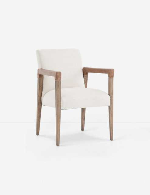 Marla Dining Chair, Ivory - Lulu and Georgia