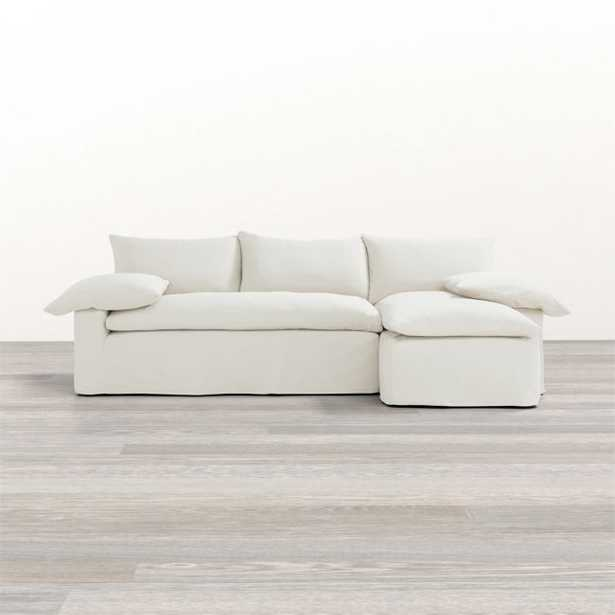 Ever Slipcovered 2-Piece Sectional / Left arm sofa - Right arm chaise - Crate and Barrel