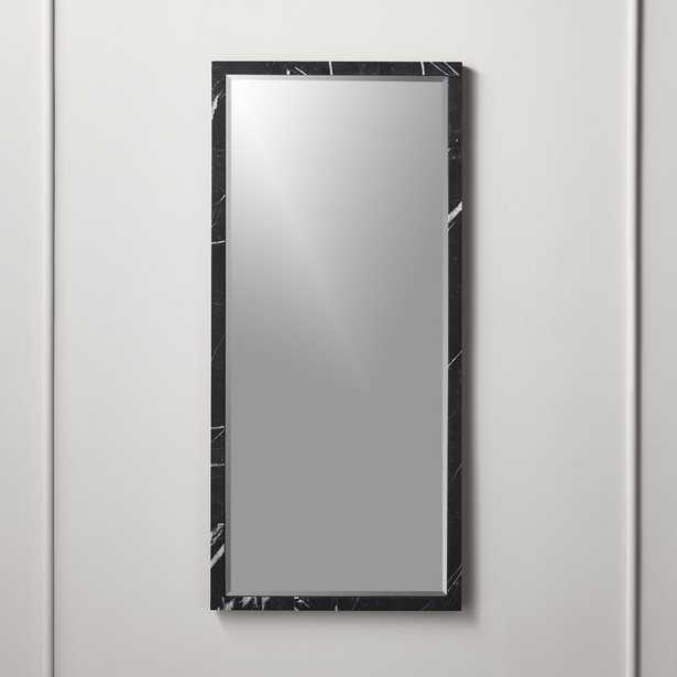 "Black Marble Mirror Rectangle 18""x39.5"" - CB2"