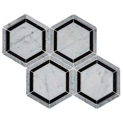 "Hingham 6"" x 6"" Natural Stone Mosaic Tile - AllModern"