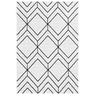 Marrufo Geometric Ivory/Black Area Rug - Wayfair