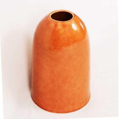 """Lento Burnt Orange 8.75"""" Ceramic Table Vase - Birch Lane"""