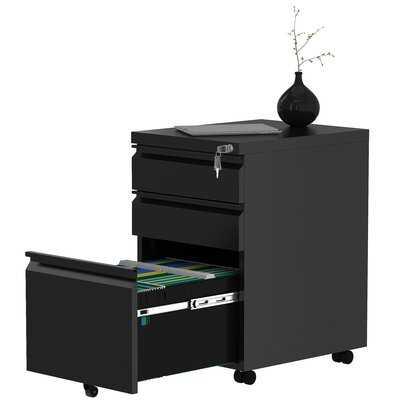 3-Drawer Portable File Cabinet - Wayfair