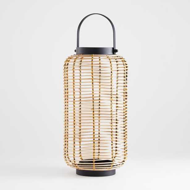 Brigton Large Rattan Lantern - Crate and Barrel