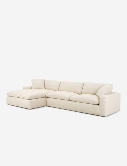"Rita Left-Facing Sectional Sofa 107"" x 70"" x 34"" - Lulu and Georgia"
