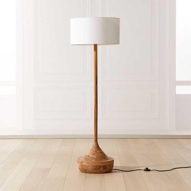 Atlas Wood Floor Lamp, Natural - CB2