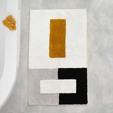 "Organic Color Block Bath Mat, 20""x34"", Dark Horseradish - West Elm"