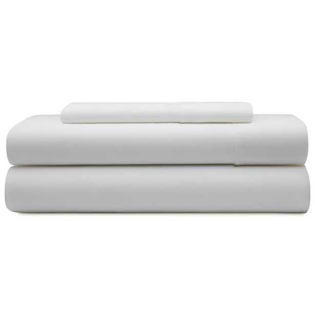 3-Piece White Microfiber Twin Sheet Set - Home Depot