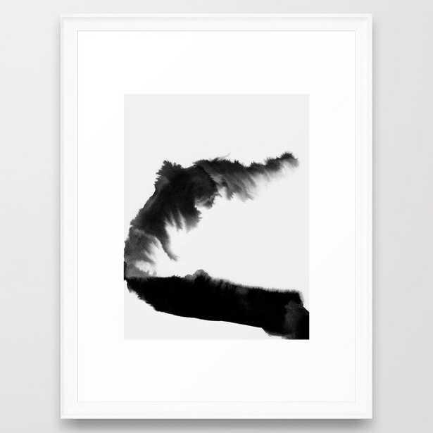 Double Black Framed Art Print by Georgiana Paraschiv - Scoop White - MEDIUM (Gallery)-20x26 - Society6
