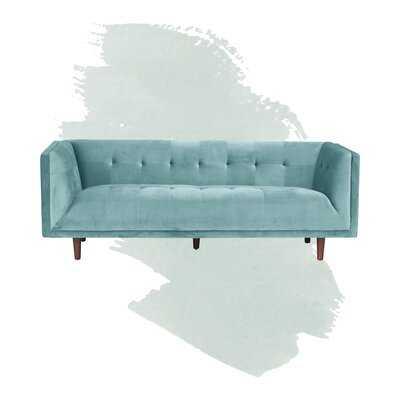 """Conrad Velvet Chesterfield 82"""" Rolled Arm Sofa - Wayfair"""