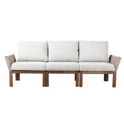 Brendina Patio Sofa with Cushions - Wayfair
