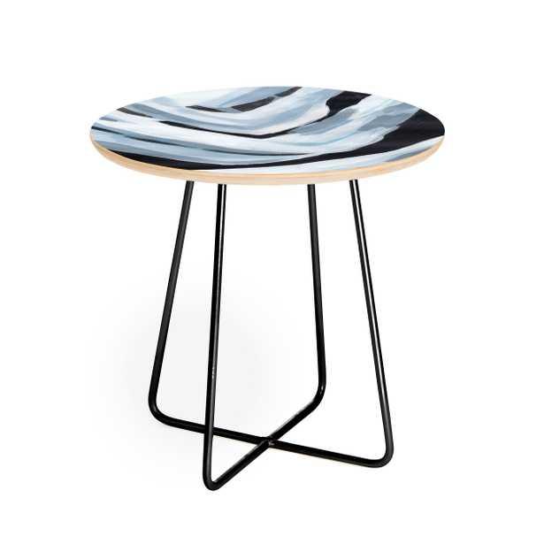 Laura Fedorowicz Visionary Round Side Table - Black Aston Legs - Wander Print Co.