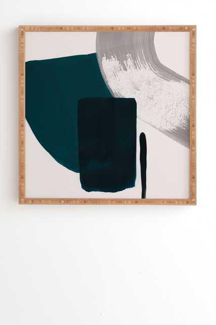 "Minimalist Painting 02 by Iris Lehnhardt - Framed Wall Art Bamboo 30"" x 30"" - Wander Print Co."
