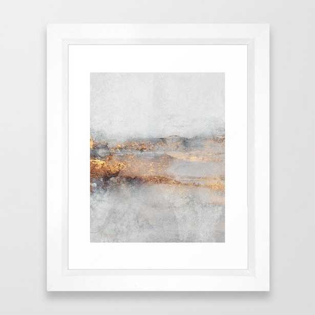 Fog Framed Art Print by Elisabeth Fredriksson - Vector White - X-Small-10x12 - Society6