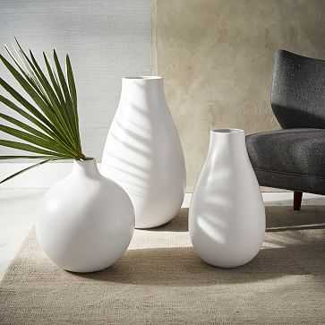 Pure White Ceramic Vase, Set of 3 - West Elm