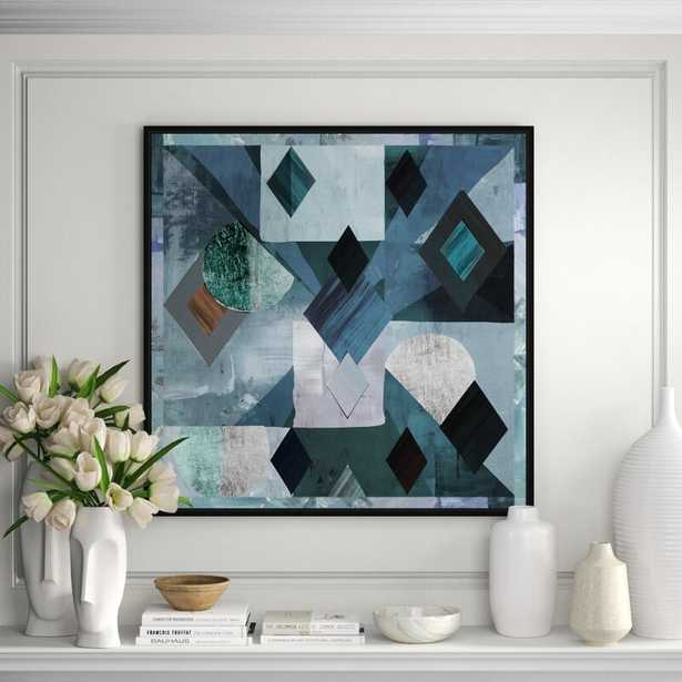 JBass Grand Gallery Collection 'Pair of Diamonds' Framed Graphic Art Print on Canvas - Perigold