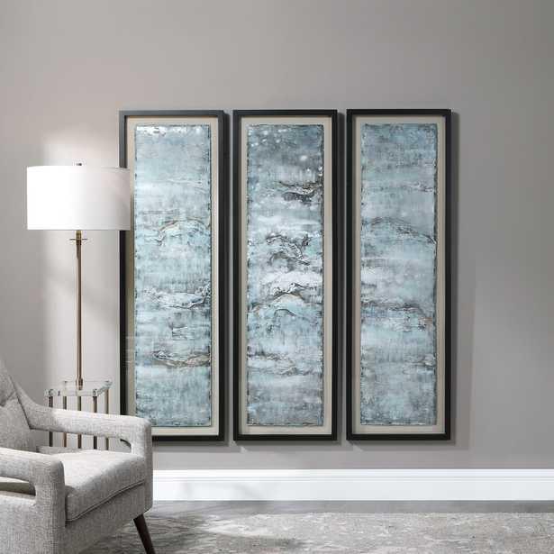 Ocean Swell Painted Metal Art, S/3, 3 Cartons - Hudsonhill Foundry