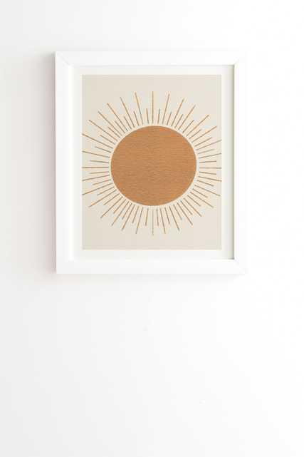 "Sun Ray Midcentury by MoonlightPrint - Framed Wall Art Basic White 19"" x 22.4"" - Wander Print Co."