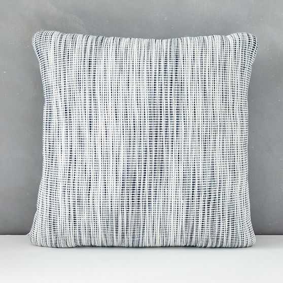 "Outdoor Striated Pillow, 20""x20"", Midnight - West Elm"