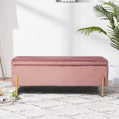 Schmucker Upholstered Flip Top Storage Bench - Wayfair