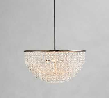 Reilly Crystal Chandelier, Pewter - Pottery Barn