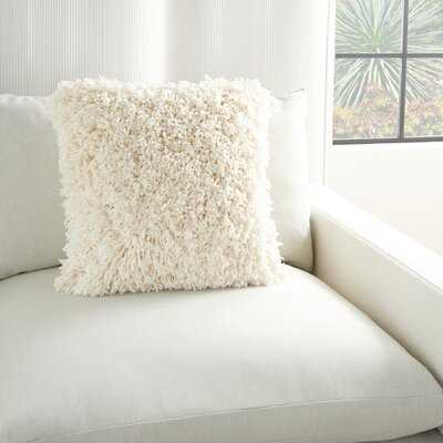 Emonte Square Faux Fur Pillow Cover and Insert - Wayfair