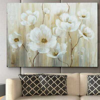 'Shimmering Blossoms' - Wrapped Canvas Painting Print - Birch Lane