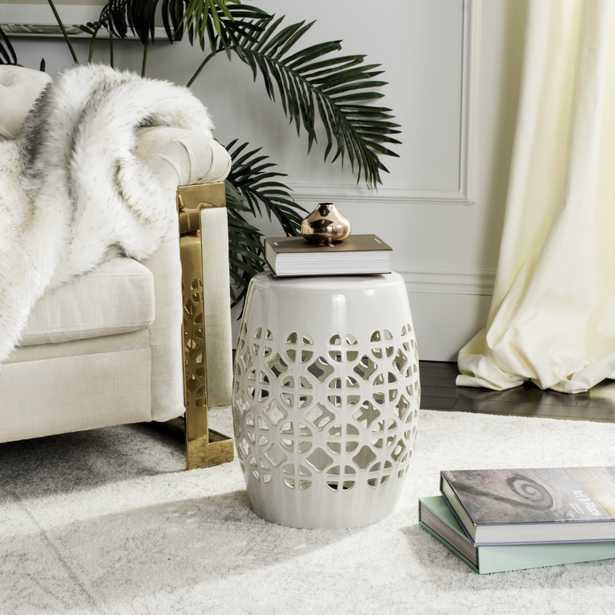 Circle Lattice Garden Stool - Cream - Arlo Home - Arlo Home