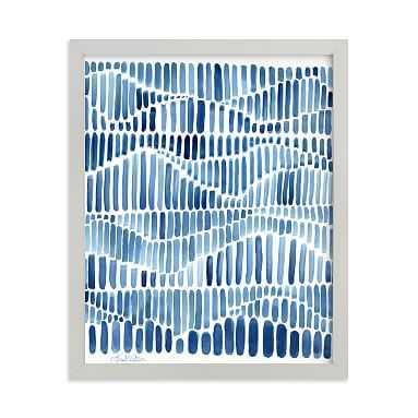 Indigo Rhythm Framed Art by Minted(R), Grey, 8x10 - Pottery Barn Teen