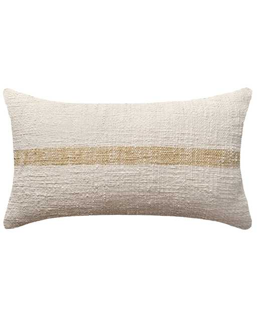 "linus Pillow, 20"" x 12"", Cream - PillowPia"