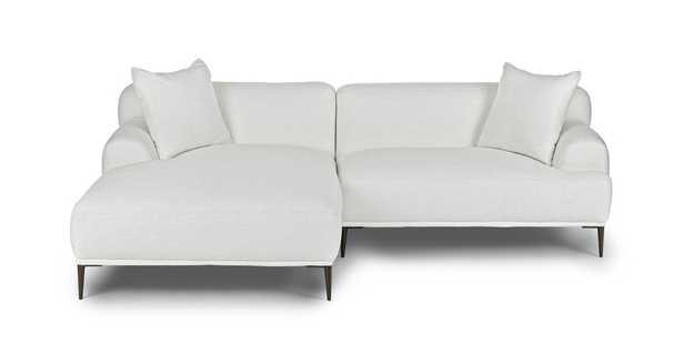 Abisko Quartz White Left Sectional - Article
