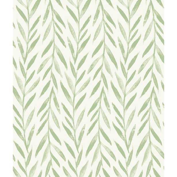 Magnolia Home by Joanna Gaines Willow Wallpaper, Green - Home Depot