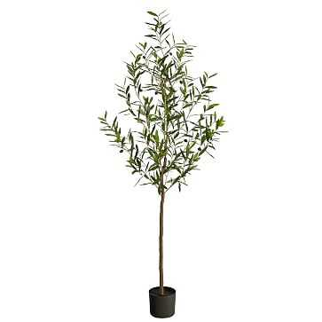 Faux Olive Tree, 6 feet - West Elm