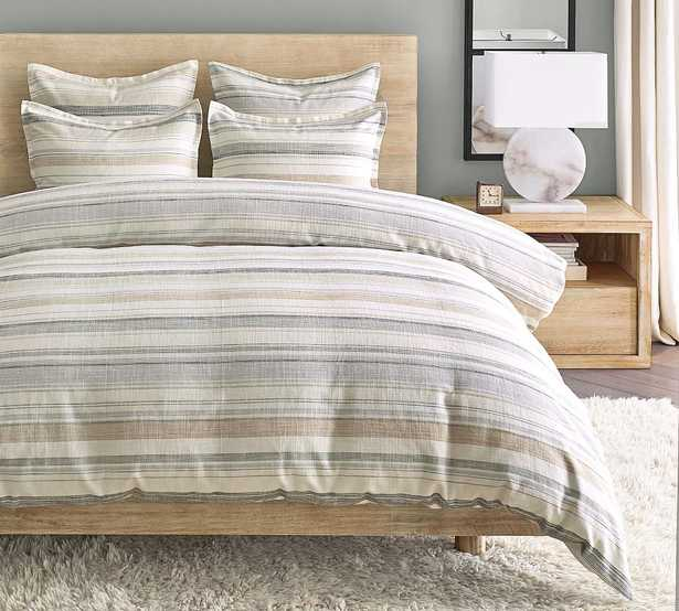 Clayton Striped Cotton Duvet Cover, King/Cal. King - Pottery Barn