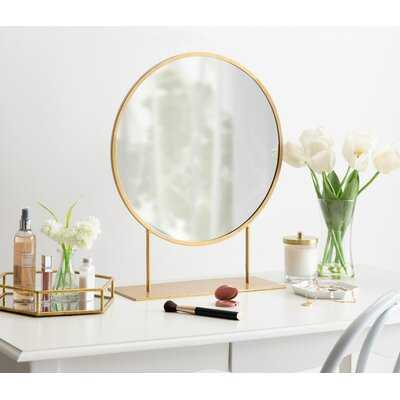 Jackie Modern Glam Round Beveled Accent Mirror - Wayfair