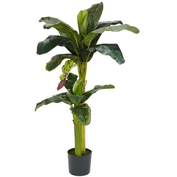 5 ft. and 3 ft. Green Banana Silk Tree with Bananas - Home Depot