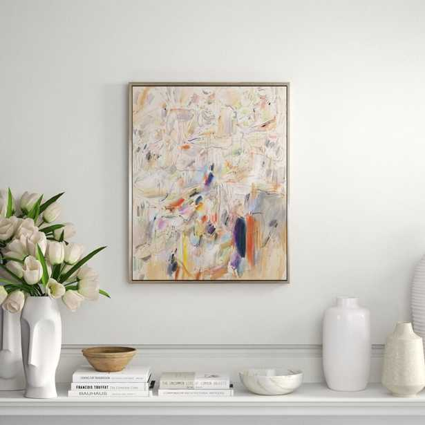 CHC Art, Inc. 'It's All a Blur' - Floater Frame Painting Print on Canvas - Perigold