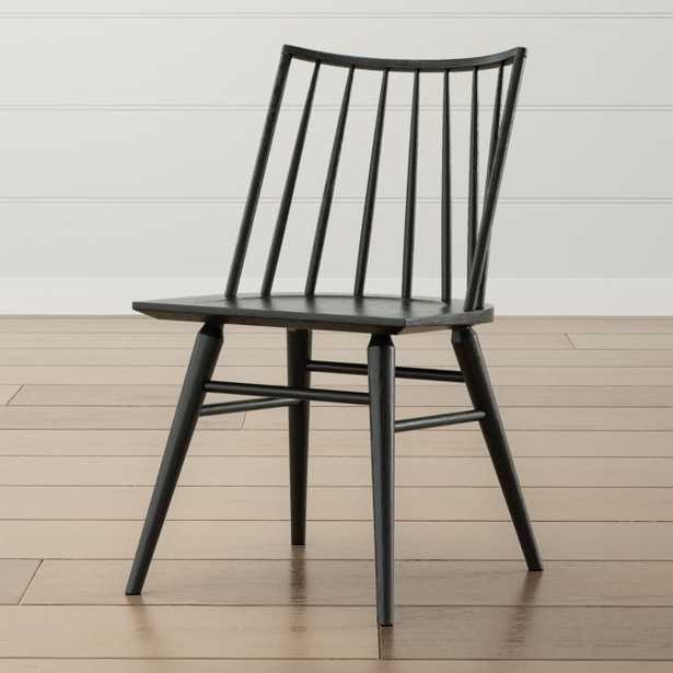 Paton Black Oak Windsor Dining Chair - Crate and Barrel