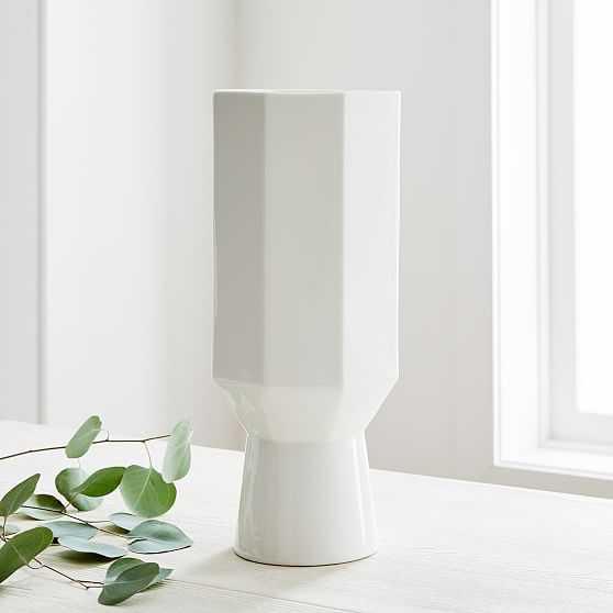 Porcelain Urn Vase, Large, White - West Elm