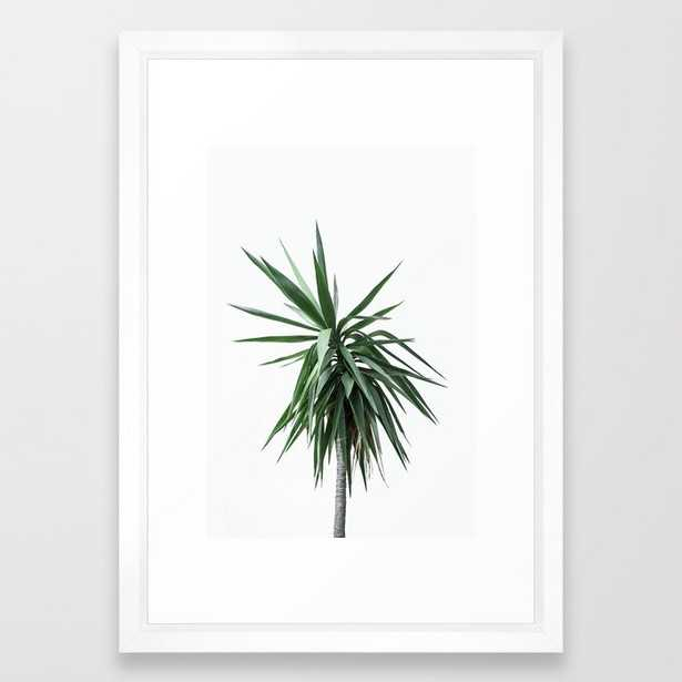 Palm Trees 11 Framed Art Print by Mareike BaPhmer - Vector White - SMALL-15x21 - Society6