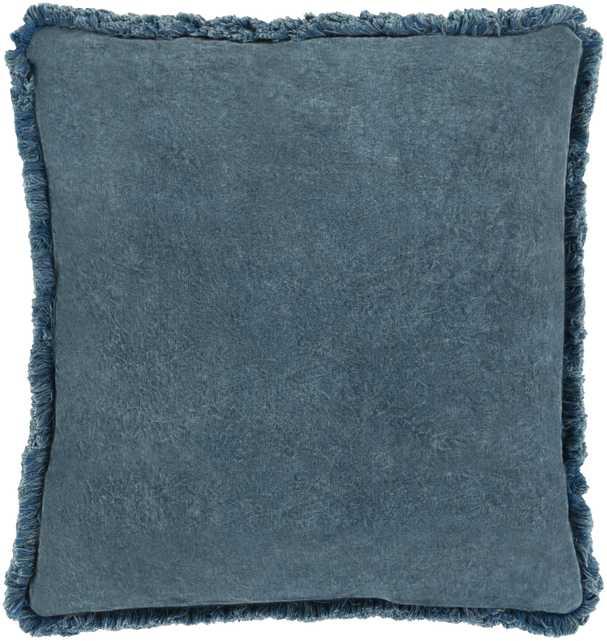 "Reina Pillow Cover, 20""x 20"", Denim - Roam Common"
