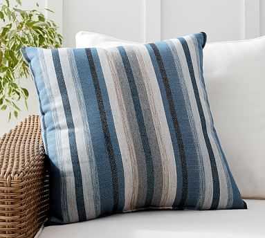 "Sunbrella(R) Joel Striped Indoor/Outdoor Pillow, 22"" x 22"", Blue Multi - Pottery Barn"